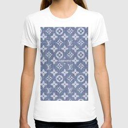 supreme lv grey T-shirt
