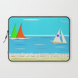 The Ideal Nautical Beach Day Laptop Sleeve