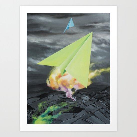 Paper planes Art Print