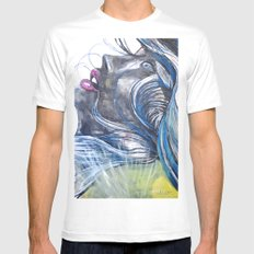 Emo Girl MEDIUM White Mens Fitted Tee