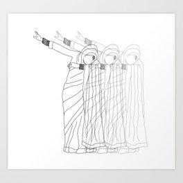 Ghosting. Art Print