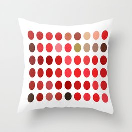 Mottled Red Poinsettia 1 Ephemeral Dots Throw Pillow