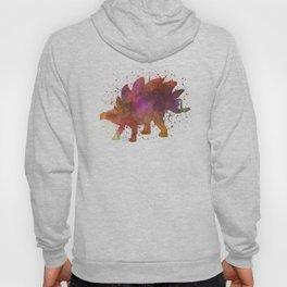 Stegosaurus dinosaur in watercolor Hoody