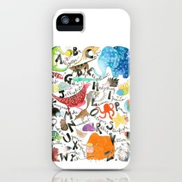 English Alphabet iPhone Case