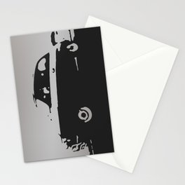 Fiat 500 classic, Gray on Black Stationery Cards