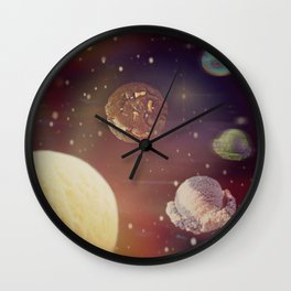 Planets of the ice shapes galaxy Wall Clock