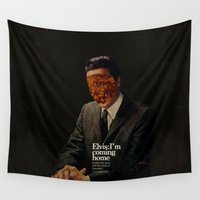 king Wall Tapestries featuring King by Frank Moth