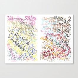 Truck Stop Love Stalls No. 1 & No. 2 Canvas Print