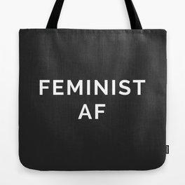 Feminist AF Quote Tote Bag