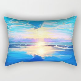 Sunset on the sea Rectangular Pillow