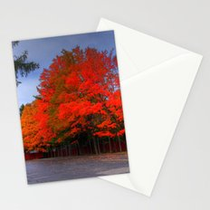 Falling for Red Stationery Cards