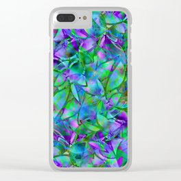 Floral Abstract Stained Glass G295 Clear iPhone Case