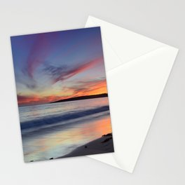 """""""Bolonia beach at sunset"""" Stationery Cards"""