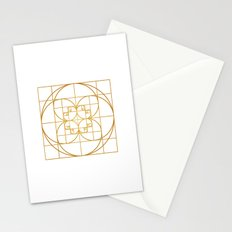 Golden Splash Stationery Cards