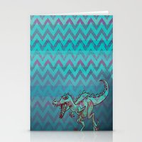 dino Stationery Cards featuring dino  by Bunny Noir