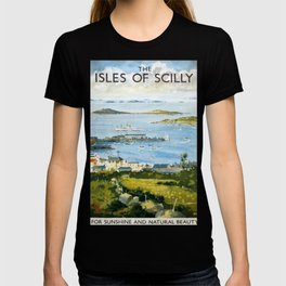 The Isles of Scilly Vintage Travel Poster T-shirt