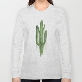Drippy Green Saguaro Long Sleeve T-shirt