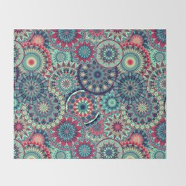 Mandala (Floral 001) Throw Blanket