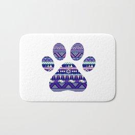 Aztec Paw Print (Dog & Puppy, Animal Lovers) Bath Mat
