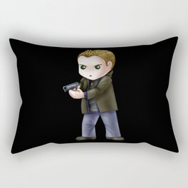 Chibi Dean Winchester (Black BG) Rectangular Pillow