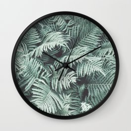 Fern Patten Turquoise Texture Wall Clock