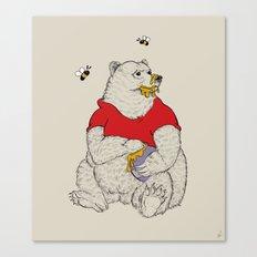 Silly ol' Bear Canvas Print