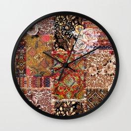 carpet art ethnic  Wall Clock