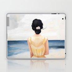 girl on the beach art Laptop & iPad Skin