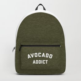 Avocado Addict Funny Quote Backpack