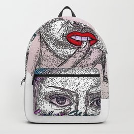 A Colorful Face of An Woman Backpack