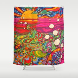 Psychedelic Art Shower Curtain