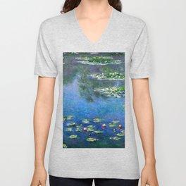 Monet Waterlilies Unisex V-Neck