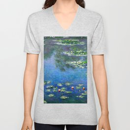 Monet Waterlilies Unisex V-Neck