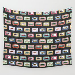 Mixed Mix Tapes - Dark Background Wall Tapestry