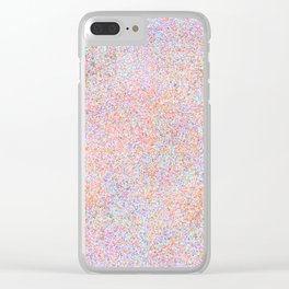 Modern teal pink gold yellow watercolor splatters Clear iPhone Case