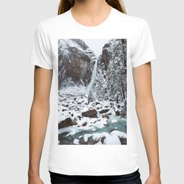 Snow at Yosemite Falls T-shirt