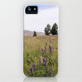 New Zealand Purple Flowers iPhone Case