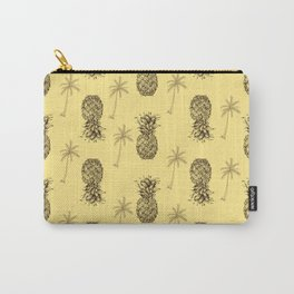 Retro Pineapple Pattern Carry-All Pouch