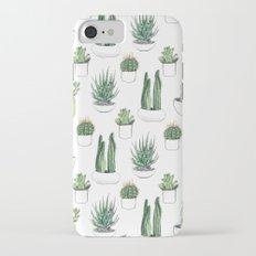 watercolour cacti and succulent Slim Case iPhone 7