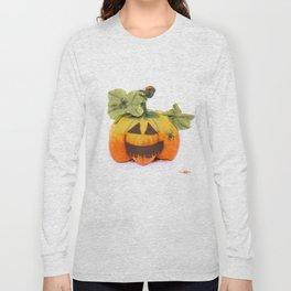 Pumpkin handmade from felted wool for celebration of Halloween Long Sleeve T-shirt