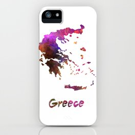 Greece in watercolor iPhone Case