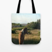 pony Tote Bags featuring pony by catrinaevans
