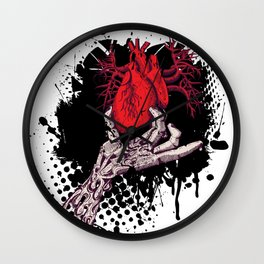 Ripped Out Heart Wall Clock