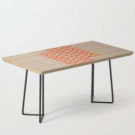 abstract eyes pattern orange tan Coffee Table