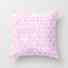Watercolor Mermaid Fairytale Pink Throw Pillow