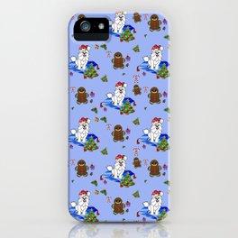 Santa Paws Holiday Samoyed Pattern iPhone Case