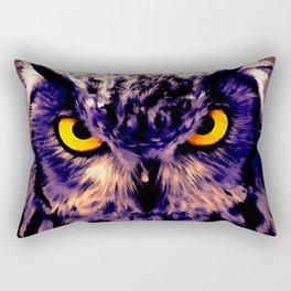 owl look digital painting reacls Rectangular Pillow