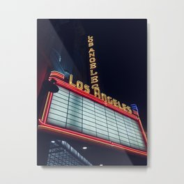 LET'S GO TO THE MOVIES Metal Print