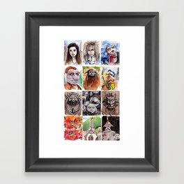 Labyrinth Cast Framed Art Print