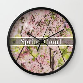 Spring Court Wall Clock